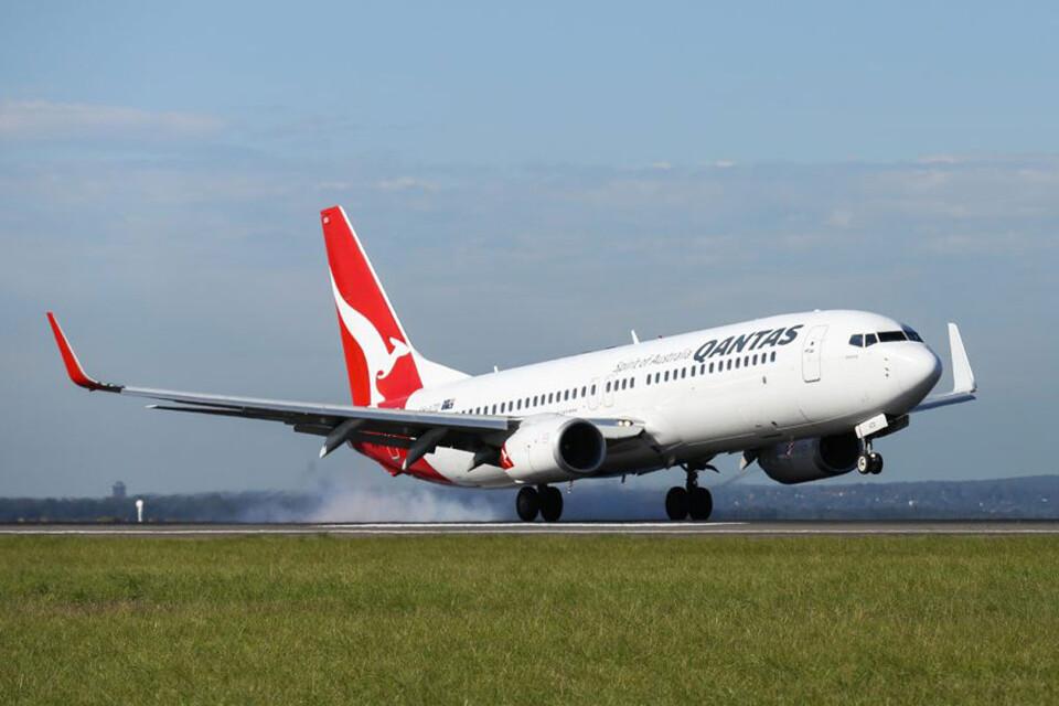 O novo sistema de internet da Qantas vai estrear no jato Boeing 737 (Qantas)