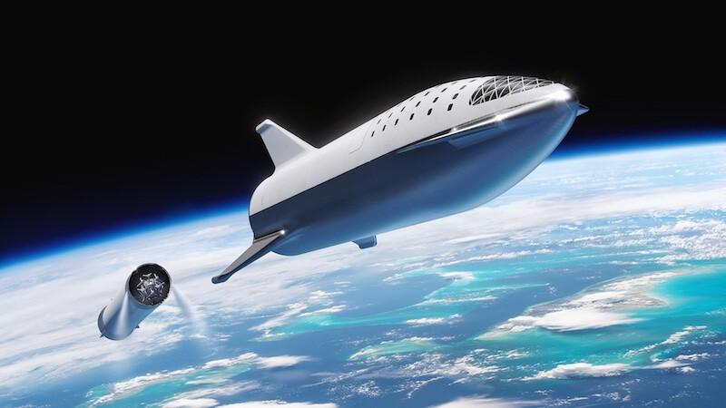O Starship é como uma evolução dos antigos Ônibus Espaciais da NASA, mas projetado para ir mais longe e levar mais carga (SpaceX)
